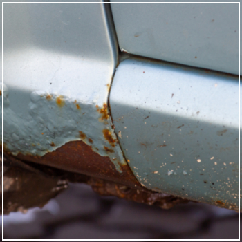 rusted vehicle body