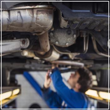 examining exhaust system