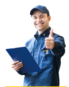 mechanic with clipboard
